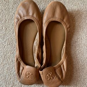 Rare Tory Burch Brown Leather Flats